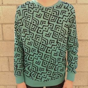 Urban Outfitters Grn/Blk 80s Print Sweatshirt (sm)